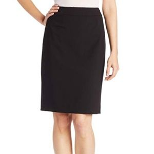 CALVIN KLEIN Womens Black Pencil Skirt 14